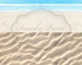 TWO IN ONE 8ft x 16ft Vinyl floordrop backdrop Vinyl Photography / White Sandy beach