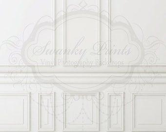 6ft x 6ft Chair Rail / Vinyl Photography Backdrop / NEW ITEM