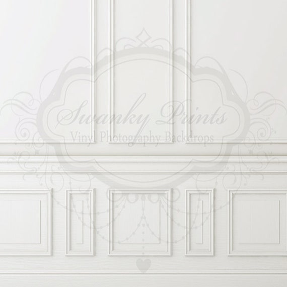 5ft X 5ft Chair Rail / Vinyl Photography Backdrop By