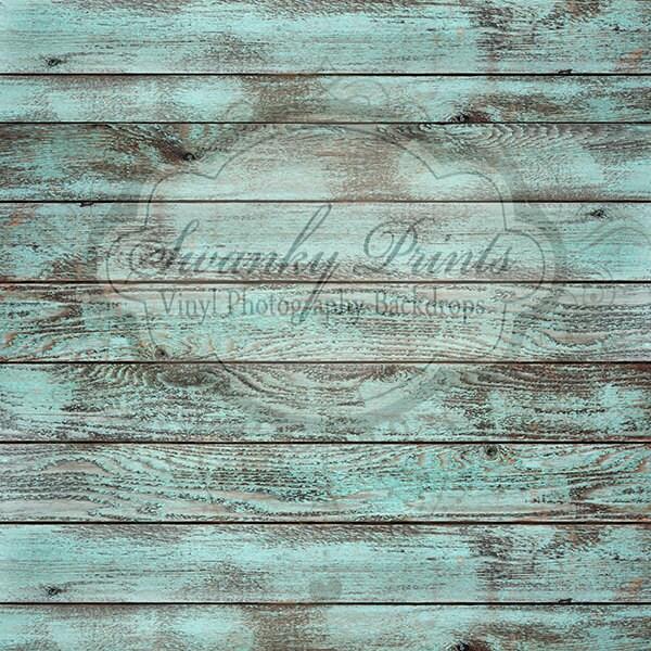 7ft X 7ft Vinyl Backdrop Wood Floordrop Blue Washed Wood