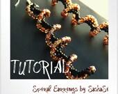 Beading Tutorial DOWNLOAD - Spiral Earrings