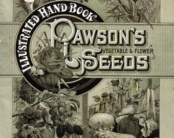 Vintage Seed Packet Download Art Print