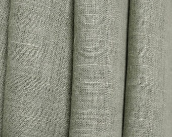 "Linen Curtain Panel Grey Gray 52""x84"" ECO"