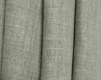 "Linen Curtain Panel Grey Gray 52""x84"" ECO"