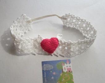 Baby Headband Crochet Girls Headbands Lace Headband Baby Headbands Heart Headband Baby Headband baby Girl Headbands Baby Girl Headband