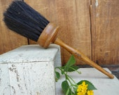 1800's Paint Brush, with Horse Hair and Wooden Handle Painter's Duster