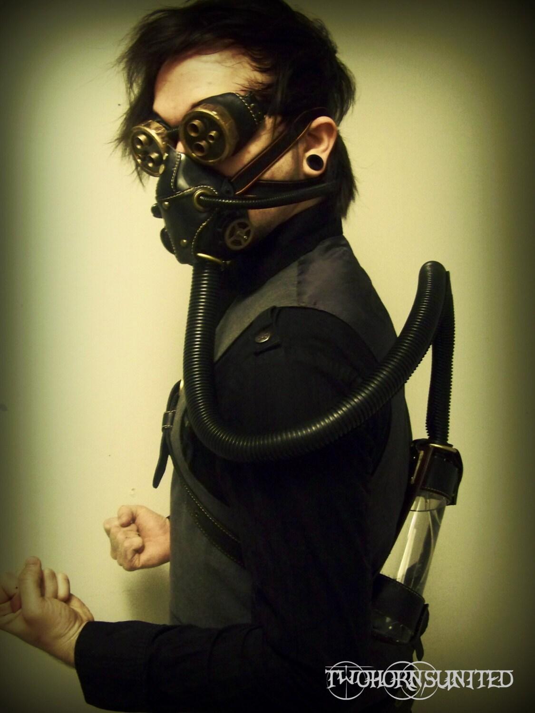 Hydropunk Steampunk Victorian Respirator Gas Mask And Goggles