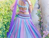 Pastel Indian Full Skirt Outfit