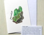 Alternative Gemstone Birthday Card - Peridot/August