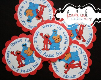 Elmo and Cookie Monster Personalized Stickers