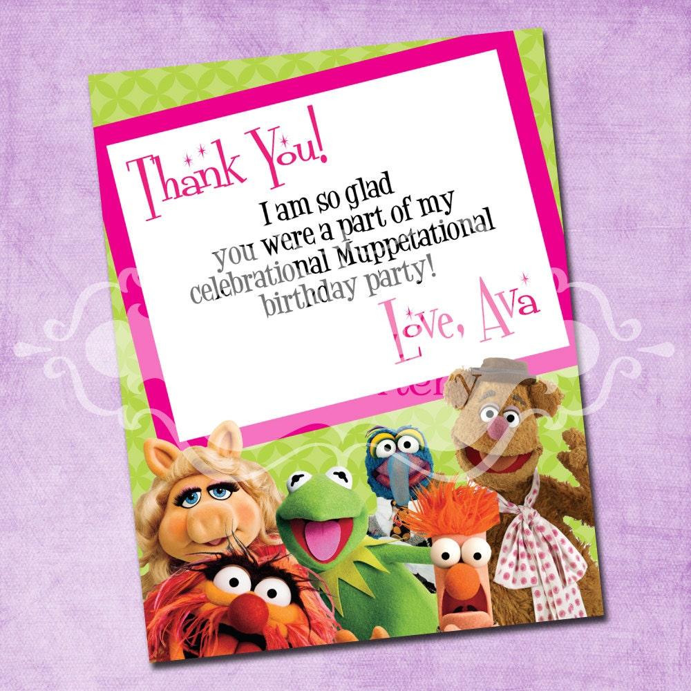 Muppet invitation – Muppet Birthday Card