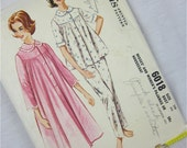 Vintage 50s Pajama Sewing Pattern, McCalls 6018