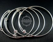4pcs 65mm diameter vintage brass bronze,silver,gold simple wiring cuff bracelet for beading 1900031