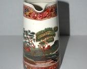 sale Spode Copeland   pitcher polychrome Italian  tower scene   serving