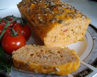 45 Minute No Yeast Quick Vegan Tomato Rosemary Bread Recipe