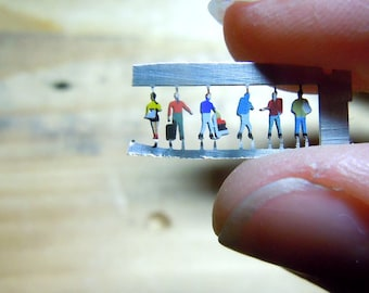 Super tiny persons from thin metal -Airport III.