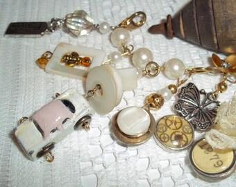 Industrial Chic Charm Bracelet, CUSTOMIZABLE Stunning Anniversary, Wedding, Bridal Jewelry