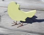 Yellow Wood  Bird Baby Shower Nursery Spring Decoration