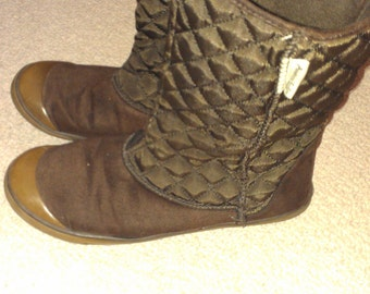 SALE Vintage Brown Ankle Snow Boots 7/7.5