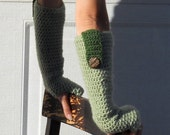 Olive green long arm warmers, fingerless gloves, texting gloves, crochet green gloves, wrist warmers, hand warmers, mittens, teen fashion