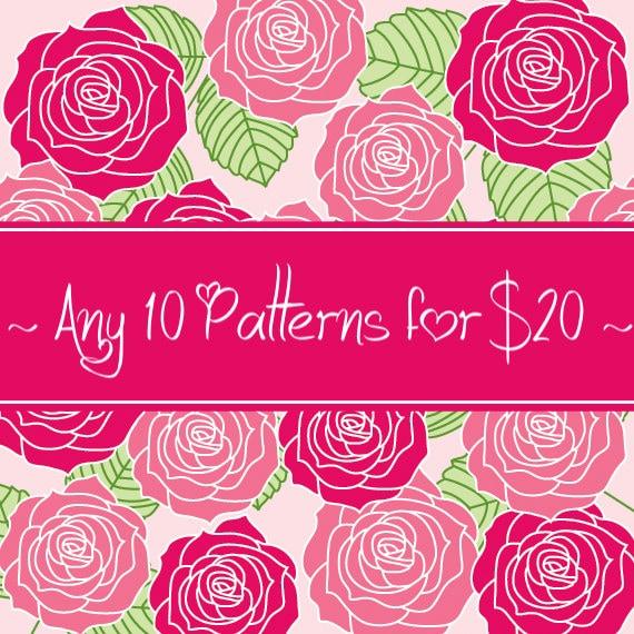 10 CROCHET PATTERNS for 20 Dollars - Savings Pack