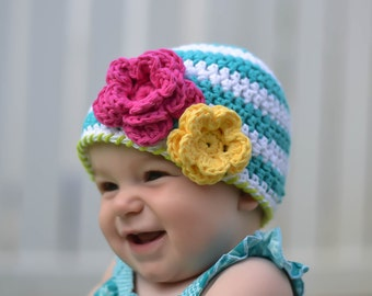 baby hat, baby girl hat, crochet baby hat, baby girls hat, little girls hat, newborn hat, girls hat, crochet girls hat