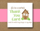 Made to Match THANK YOU Card - DIY Printable - Personalize and Coordinate with Any Design in My Shop