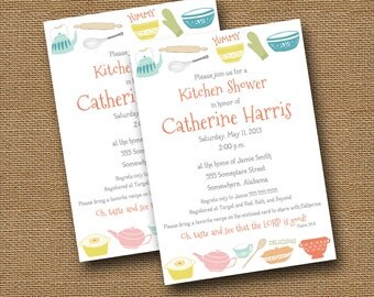 Kitchen Shower Invitation | DIY PRINTABLE | Retro, Vintage Kitchen Invite | Christian, Scripture, Bible Verse Bridal Shower Invitation