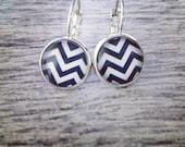 Black & White CHEVRON Earrings