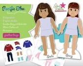 Stacy and Stella printable paper dolls - Winter clothes and accessories collections
