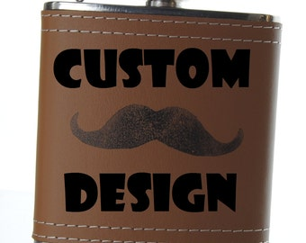 Custom Design for Flasks and Stones and bottle openers - additional engraving for custom whiskey stone