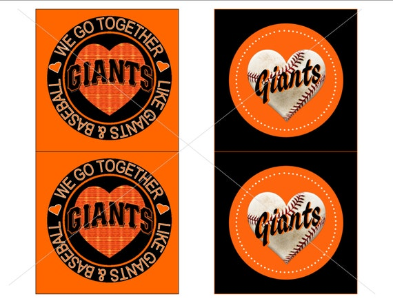 printable san francisco giants valentine tag card, Ideas