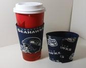 Seahawks Coffee Cozy, Seahawks Tea Cozy, Great Gift idea, add a Starbucks card to warm someones  Day