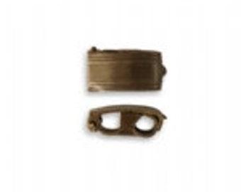 Vintaj 13x6.5mm Bracelet Foldover Clasps (2)