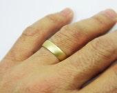 Classic wedding band- 14k yellow gold 5mm wedding ring. men women wedding ring, hes and hers ring. wedding ring(gr-9380-1496)