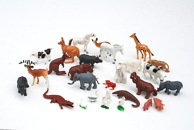 Toys R Us Animals : S miniature plastic toy animals mid century by