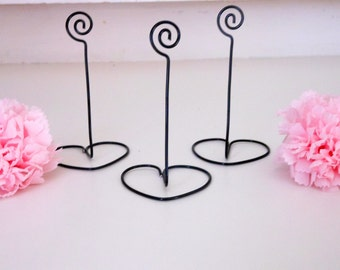 SET OF 30 Black wire Table number holders