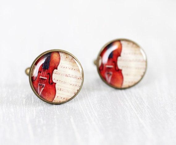 Classical Violin Cufflinks - Men cufflinks - Music cufflinks - Cuff links for men