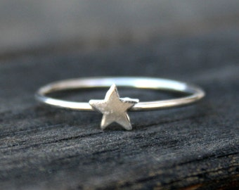 Star Sterling Silver Stacking Ring