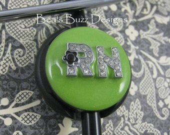 KIWI-LIME - RN - Stethoscope - Stethoscope Id - Stethoscope Id Tag - Stethoscope Jewelry - Stethoscope Name Tag - Stethoscope Cover