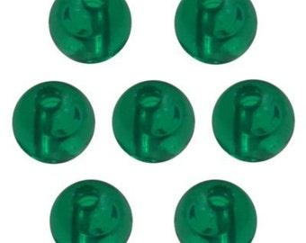 6mm Round Beads  - Transparent Emerald  (900pc)