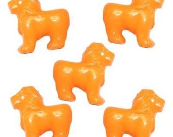 24 Lion Beads - Orange