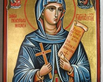 Saint Paraskeva from Iasi - made only on demand Romanian icon Orthodox icon