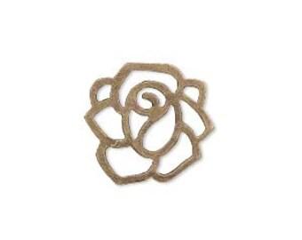 Antique Brass Fancy Flower Link Components - 20x20mm - 20 flowers