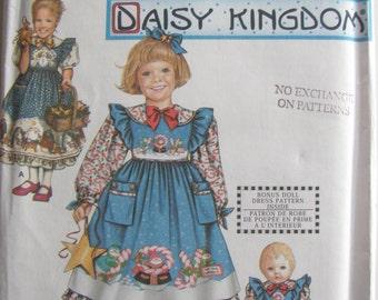 1990's Sewing Pattern No 9435  - Simplicity Dress, Pinafore & Doll Dress Size 3-6, Uncut, Factory Folded