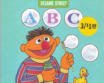 Sesame Street ABC Vintage Golden Tell A Tale Book Illustrated by John Nez  First Edition 1986