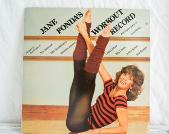 Vintage Jane Fonda Workout Record, Double Album, 1980's Jane Fonda Workout, 80s Kitcsh