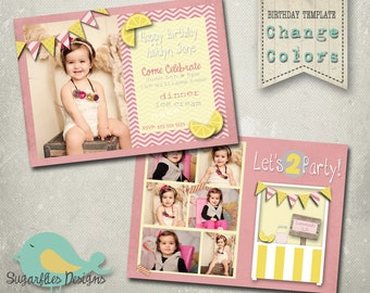 Birthday Invitation Templates - Birthday Girl Lemonade