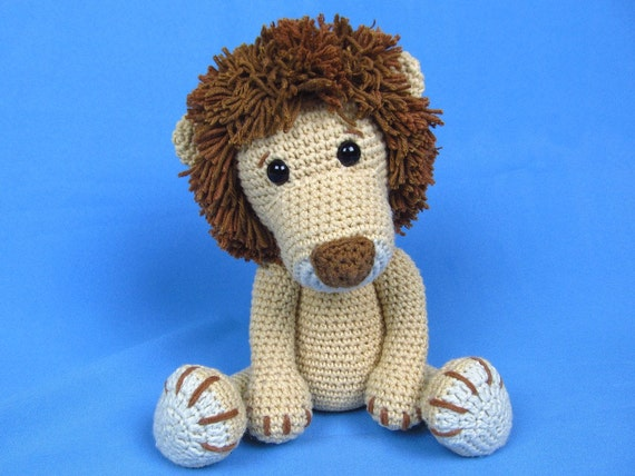 Amigurumi Free Patterns Lion : My Friend Lion Leo Amigurumi Crochet Pattern / PDF e-Book