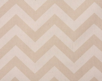 Single Pillow Cover 12x16 or 18 inch-Free US Shipping - Zig Zag in Khaki/Natural